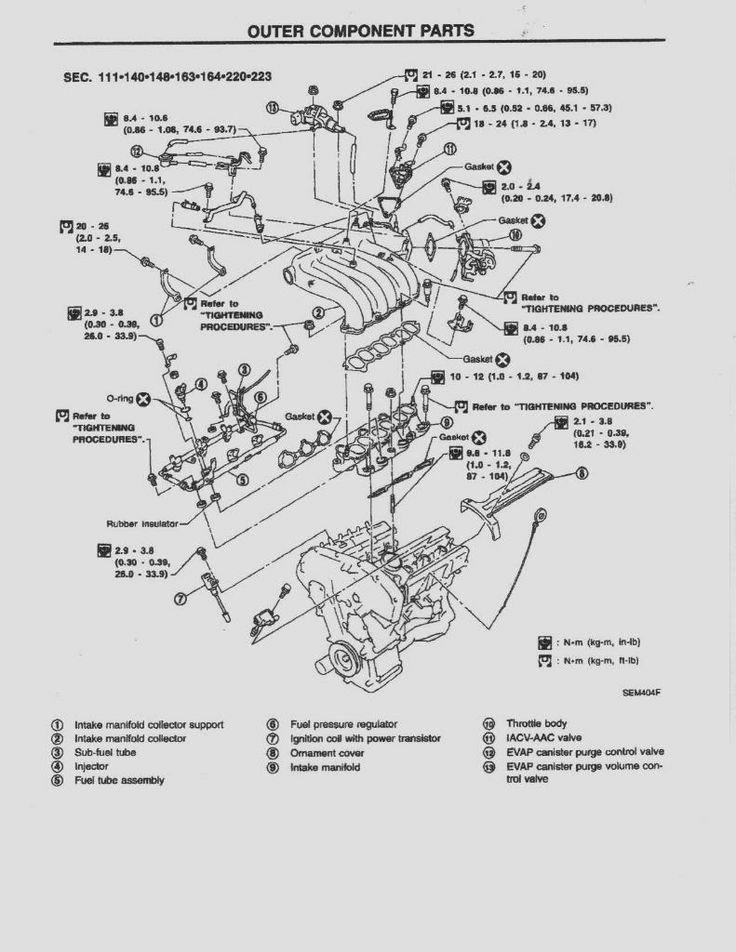 1999 nissan frontier engine diagram