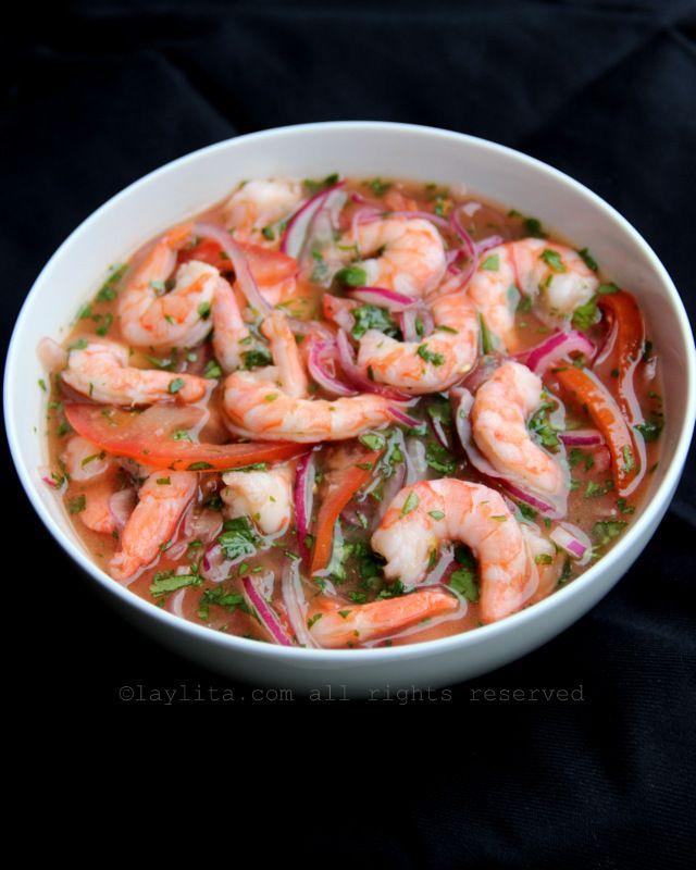 Ceviche de camarão equatoriano - Receitas da Laylita