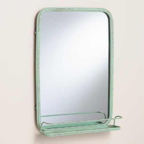 Pic Of Aqua Josie Bath Mirror with Tray
