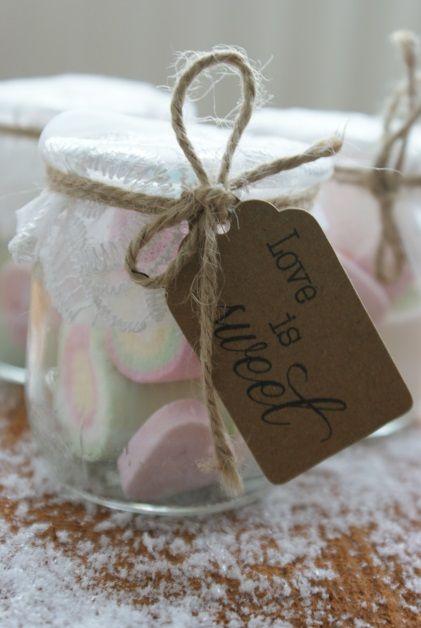 Label voor bedankjes bruiloft