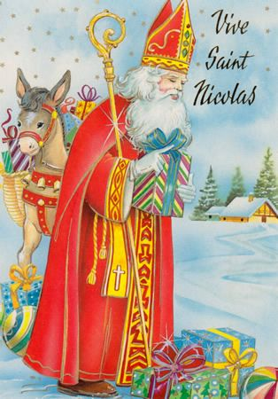 17 best images about f te de saint nicolas cartes sinterklaasfeest kaarten the feast of - Carte de st nicolas a imprimer ...