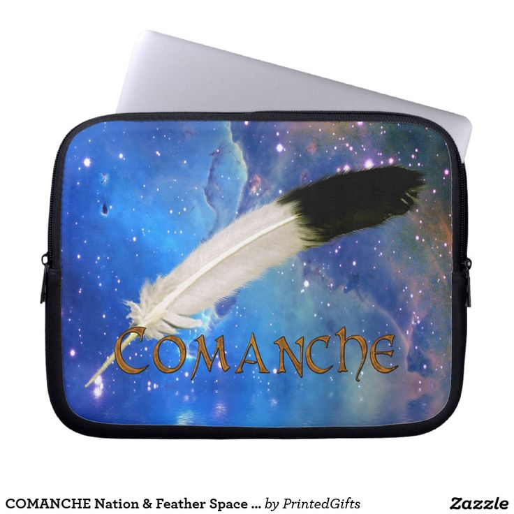 COMANCHE Nation & Feather Space Laptop Sleeves - 3 sizes.