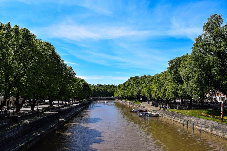 Aura River in Turku, Finland.
