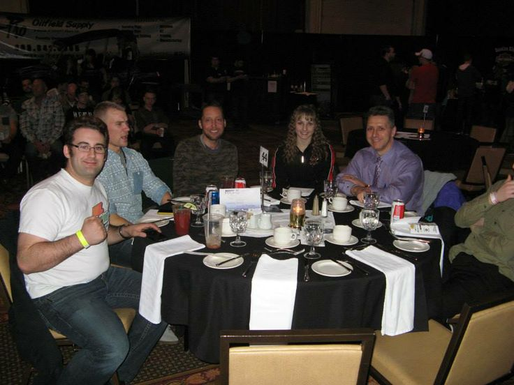 Some of the VIP guests who came for dinner and the fights!