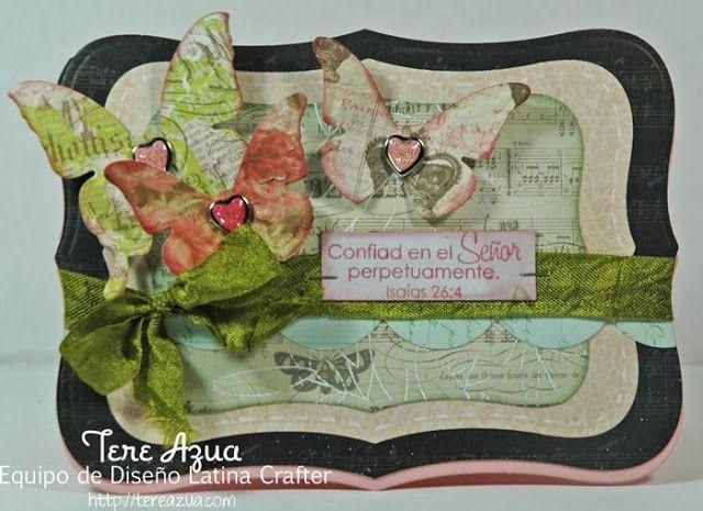 Latina Crafter - Sellos en Español: Reto Latina Crafter # 14 (LCSC14) y GANADORA reto #13!!