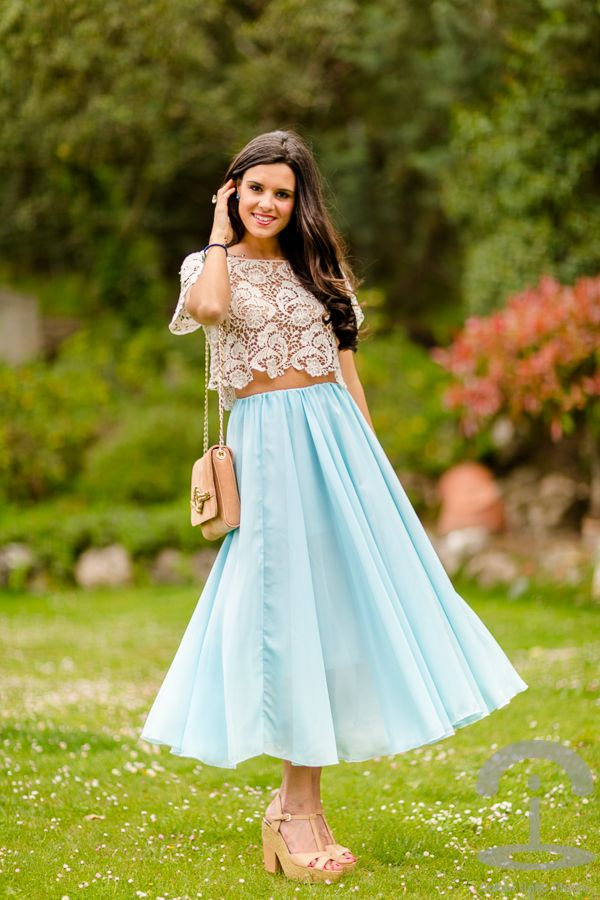 Falda larga long skirt Crimenes de la Moda