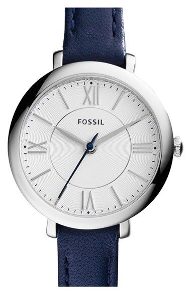 Fossil Fossil 'Jacqueline' Leather Strap Watch, 26mm available at #Nordstrom