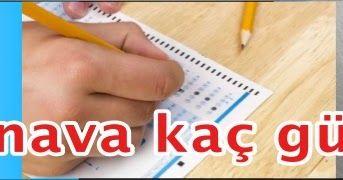2017 sınav takvimlerine göre hangi sınava kaç gün kaldı?
