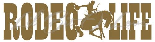 Rodeo Life Vinyl Decal - Cowboy on Bucking Bronco Sticker For Vehicle | LilBitOLove - Housewares on ArtFire
