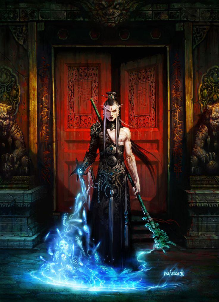 Fantasy Art wei wang: Asian wizard (yes! we need more pretty men in fantasy art!)