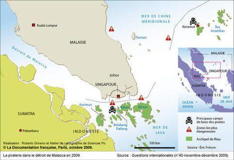 Carte : La piraterie dans le détroit de Malacca en 2009 (Questions internationales) | Géographie des mers et des océans | Scoop.it
