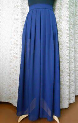 Длинная юбка в складку