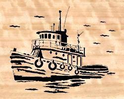07-T2-3 - Tug Boat Downloadable PDF Scroll Saw Pattern