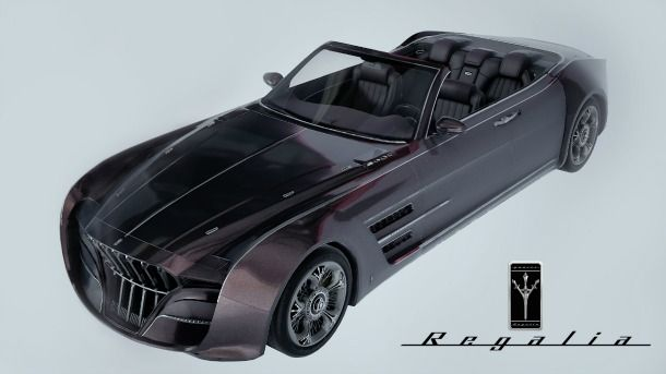 "The ""Regalia"" car for the upcoming Final Fantasy XV video game."