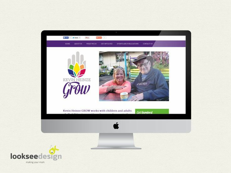 Kevin Heinze Grow Website - designed and developed by Looksee Design.
