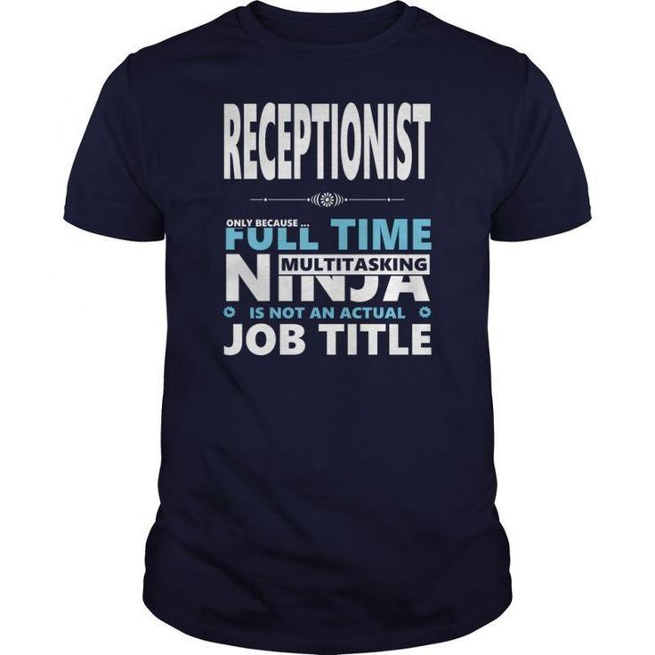 Receptionist Jobs Tshirt Guys Ladies Youth Tee