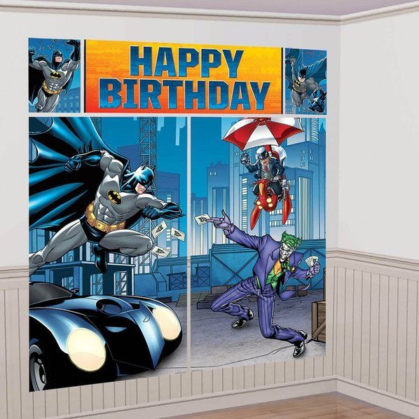 Check out Batman Scene Setter Wall Decorating Kit - Wall Decals & Cutouts at Birthday in a Box from Birthday In A Box