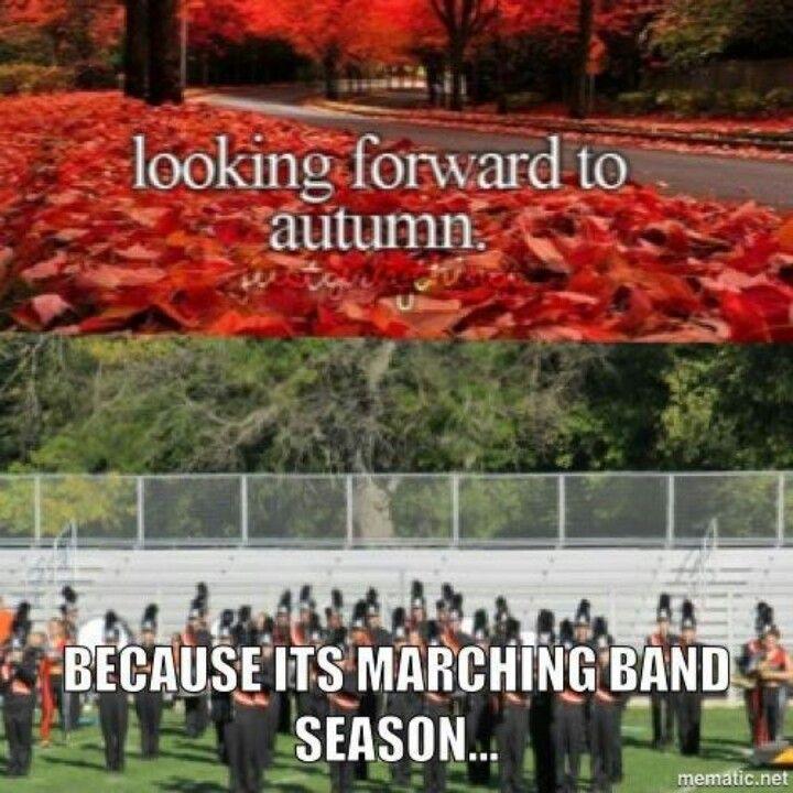 FYI: It's not football season it's marching band season get it right.