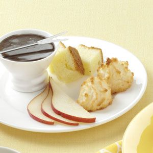 Chocolate Rum Fondue Recipe -Who needs a fancy fondue restaurant when you can whip up a chocolate sensation like this in just 10 minutes? You'll love the hint of rum flavor. —Angie Samples, Maysville, Georgia