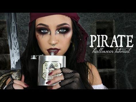 PIRATE HALLOWEEN MAKEUP TUTORIAL / GLAM PIRATE MAKEUP   Stephanie Ledda - YouTube