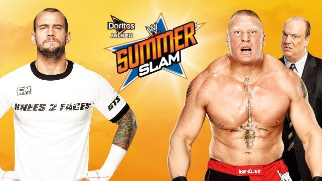 Tonight on #WWESUMMERSLAM its the best in the world CM Punk VS the beast Brock Lesnar its going to be an epic match!