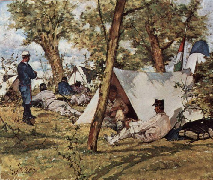 The Field Camp by Giovanni Fattori 1895