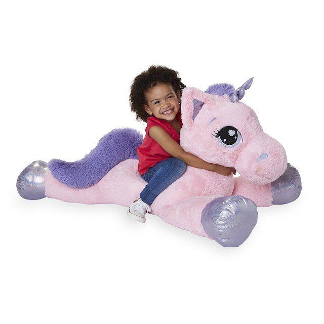 Animal Alley 45 inch Jumbo Stuffed Unicorn - Pink