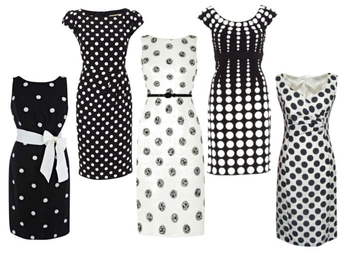 Get the look: Polka dot pencil dresses > Women's Fashion