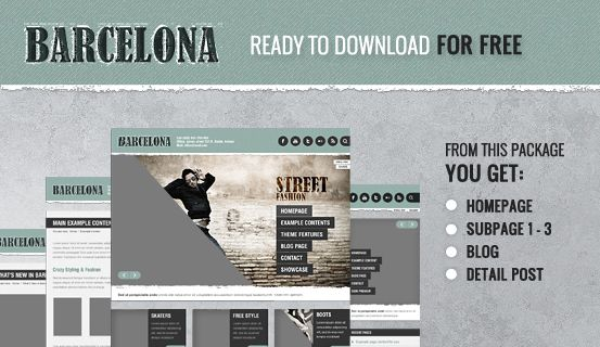 Here you can download 4 #PSD files of Barcelona #WordPress #Theme. Package includes layered PSD files of Homepage, Subpages 1-3, Blog and Detail Post great for your own project to use.