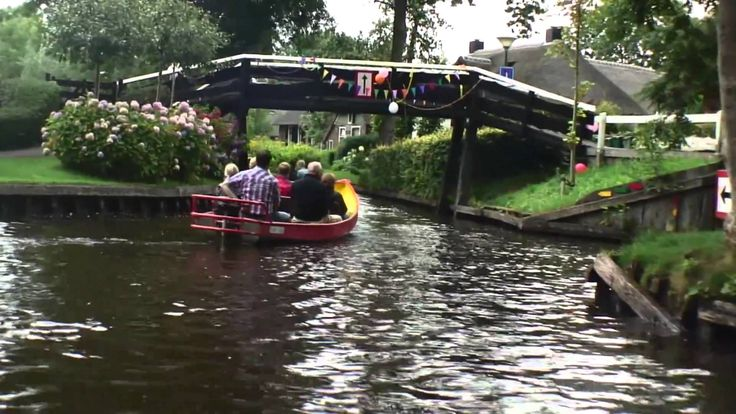 The village Giethoorn is special in the Netherlands because of it's caracteristic wooden arch bridges and canals, in the center is not a road but a canal where you have to travel by boat. That is why Giethoorn is called the Venice of Holland.