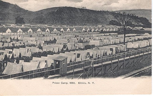 Elmira New York Civil War Prison   My ancestor, Judson P. Scruggs escaped by tunneling out with a group of other prisoners, the only successful escape from Elmira Prison.