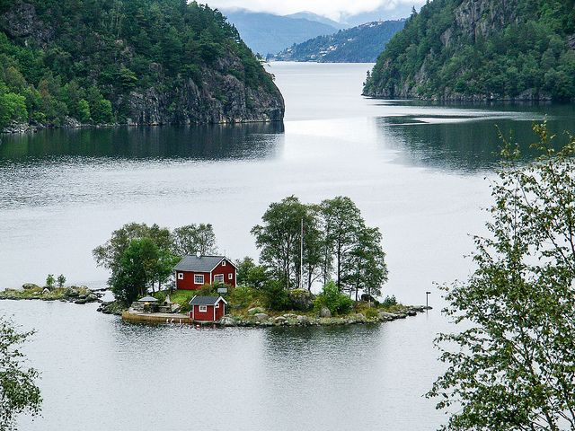 My future house; on a small island in the Lovrafjorden, along route 13 between Erfjord and Sand (Norway)