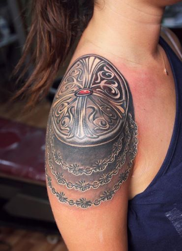 Hmmm maybe something similar, not crazy about the dark under the shoulder plate