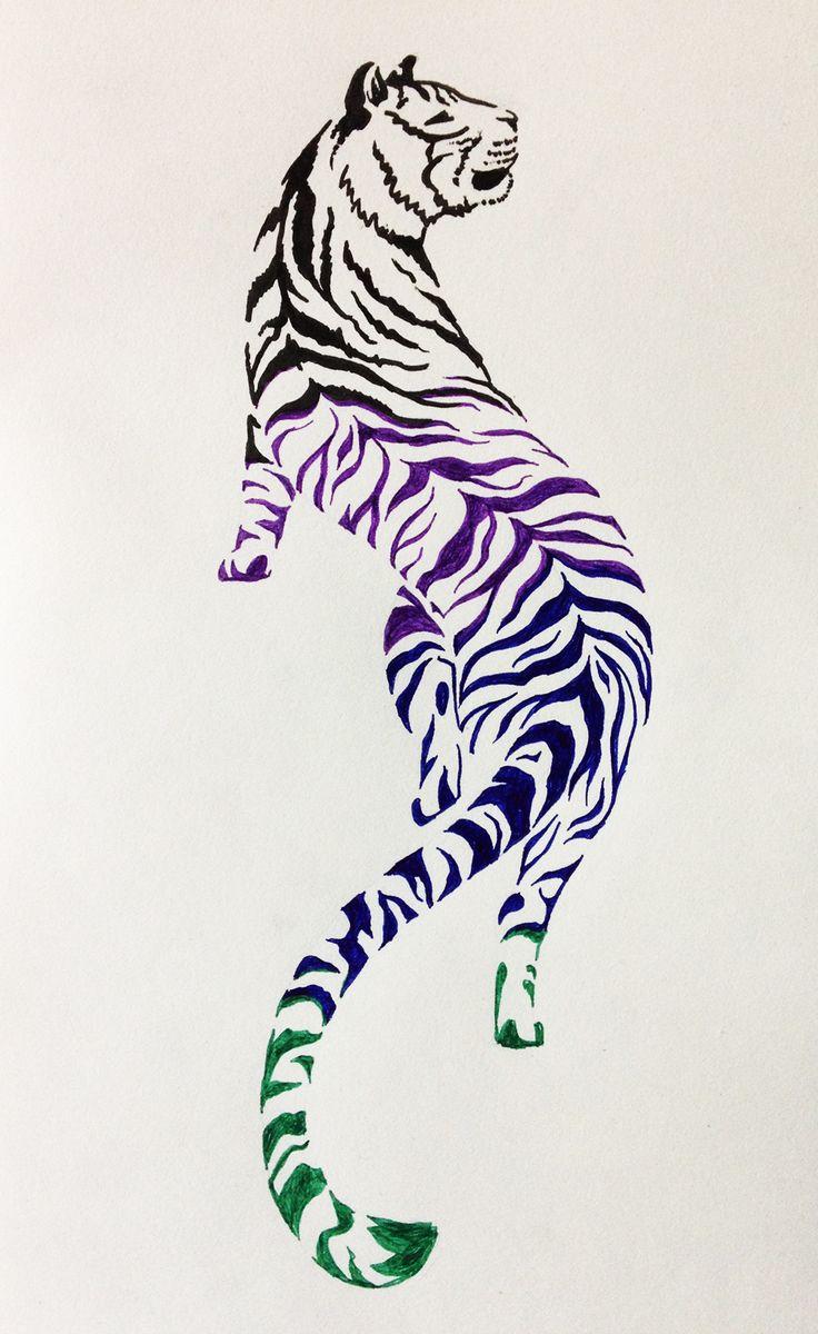 Tiger Tattoo Design #2 by NoreyDragon.deviantart.com on @DeviantArt