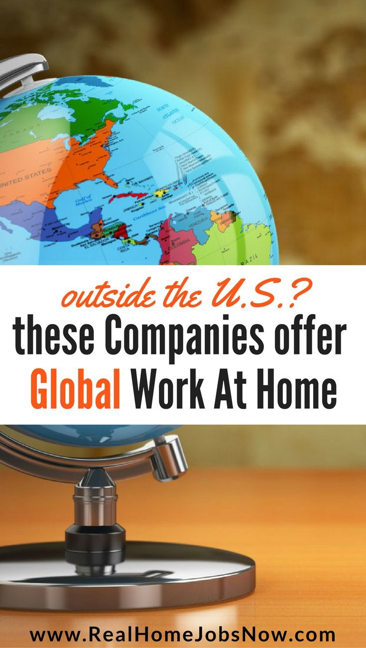 Global Work From Home Jobs In Over 60 Countries | Global