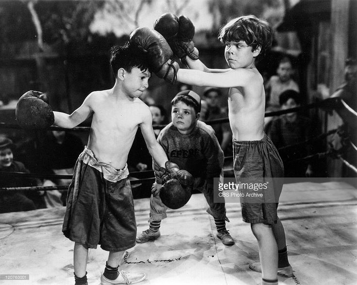Carl Switzer as Alfalfa, George McFarland as Spanky and Tommy Bond as Butch in…