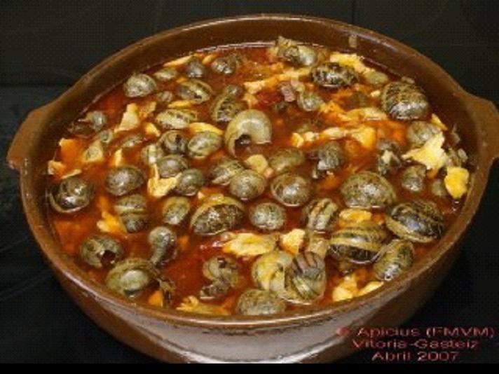 CARACOLES plato típico por la festividad de SAN PRUDENCIO