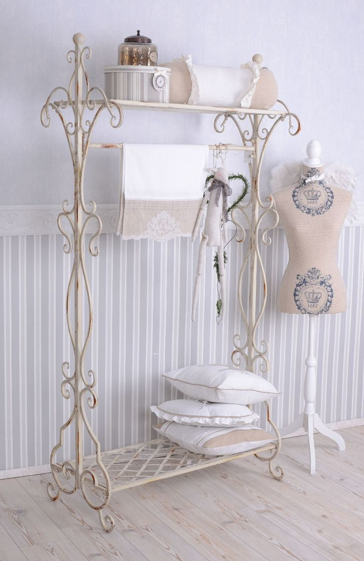 details about standgarderobe garderobe shabby chic. Black Bedroom Furniture Sets. Home Design Ideas