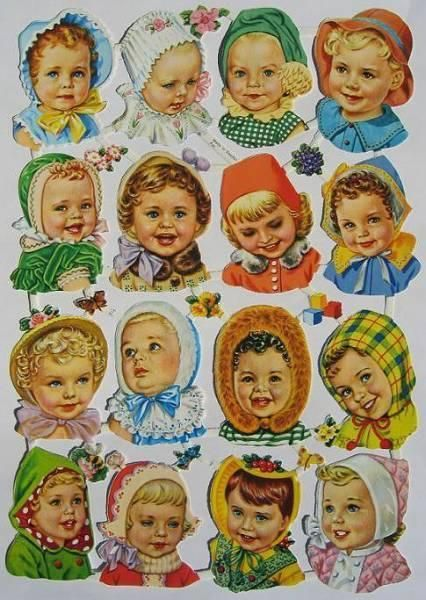 victorian scraps - cute babies