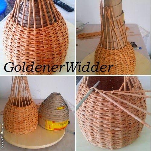 Плетение из газетных трубочек: Домик для пасхальных яичек. Универсальная форма  для ваз