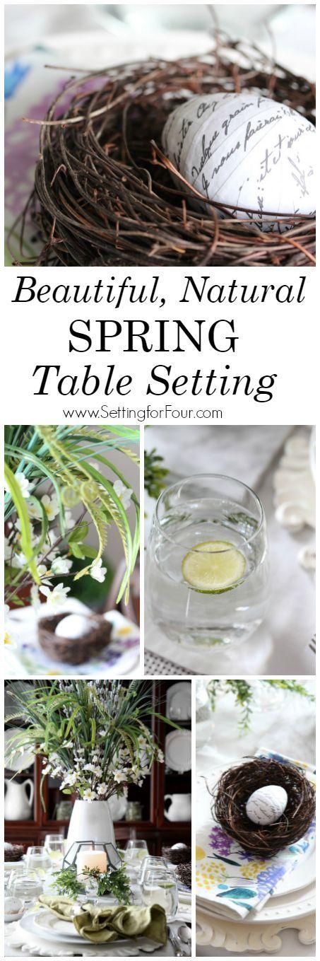 107 best spring diy decor images on pinterest flower for Beautiful table settings for spring