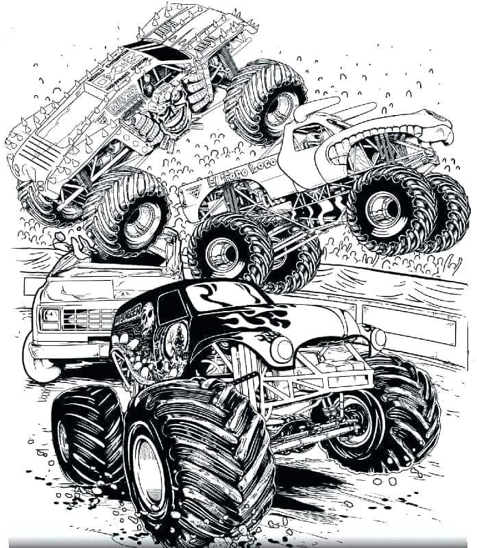 Printable Truck Coloring Pages Monster Truck Coloring Pages Truck Coloring Pages Monster Truck Drawing