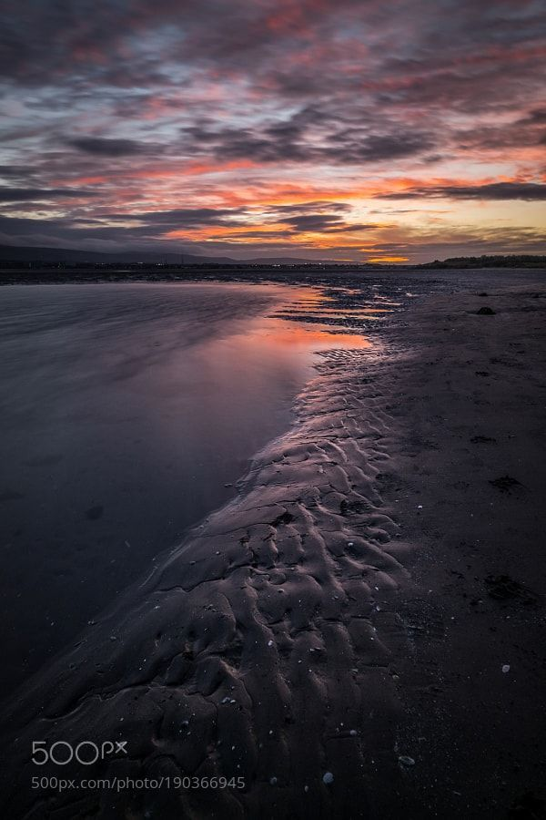 Portofolio Fotografi Pemandangan Alam - Sunset on the beach - Dublin Ireland  #LANDSCAPEPHOTOGRAPHY, #PHOTOGRAPHICSCENERY