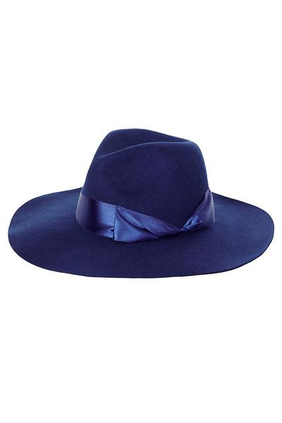 Woolen Fedora - Timeless Blue, blue woollen fedora | My Red Lippy