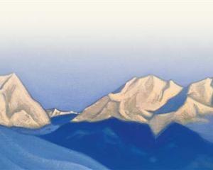 Himalayas. Pink peaks. - Nicholas Roerich, 1947
