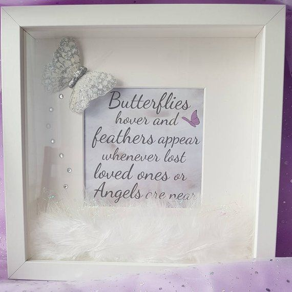Beautiful Hand Crafted 3d Box Frame A Pretty Silver Glittering Butterfly Diamante Stones And Delicate Loose White Fea Diy Shadow Box Box Frames 3d Box Frames