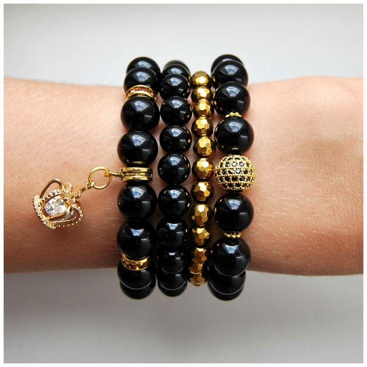 Набор браслетов Black Crown