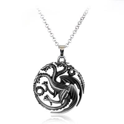 Game Of Thrones Stark Family Lion Wolf Dragon Deer Lannister Targaryen Stark Barath Game Of Thrones Necklace Game Of Throne Daenerys Metal Pendant Necklace