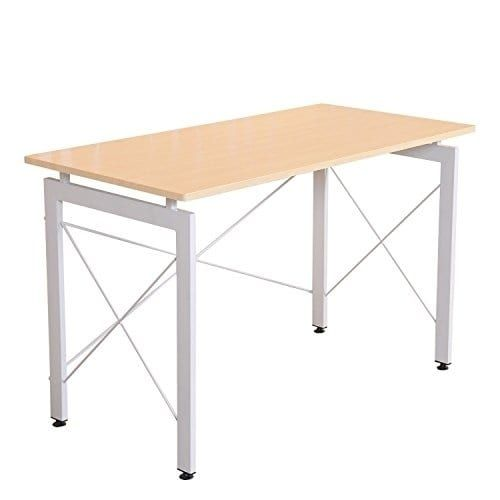 HomCom Office Workstation Computer Table Desk, Ivory