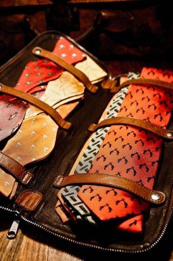 ties & bow ties - travel bag  http://www.annabelchaffer.com/categories/Gentlemen/